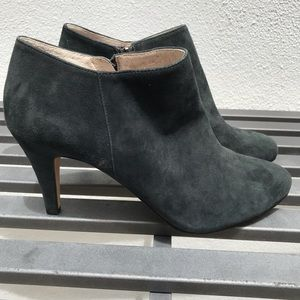 Vince Camuto Gray Suede Zip Booties NEW size 8